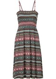 Трикотажное платье (горячий ярко-розовый) Bonprix