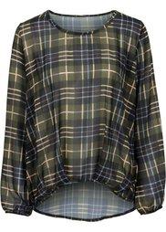 Шифоновая клетчатая блузка (красный/черный в клетку) Bonprix