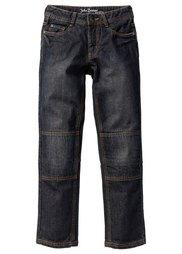 Джинсы Slim Fit с уплотнениями в области колен, Размеры  116-170 (синий «потертый») Bonprix