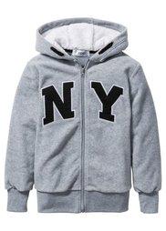 Флисовая куртка с аппликацией, Размеры  116/122-164/170 (темно-синий) Bonprix