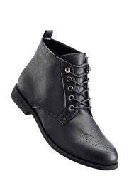 Полусапожки на шнурках (две полноты стопы на выбор), стандартная (коньячный) Bonprix
