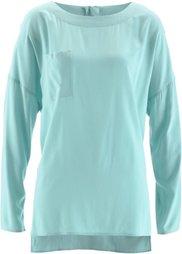 Блузка с застежкой-молнией сзади (черный) Bonprix