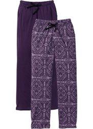 Трикотажные брюки (индиго/цвет белой шерсти со зв) Bonprix