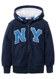 Флисовая куртка с аппликацией, Размеры  116/122-164/170 (светло-серый меланж) Bonprix