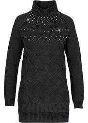 Пуловер с воротником-стойкой (каменно-бежевый) Bonprix