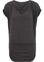 Вязаная футболка (серо-синий) Bonprix