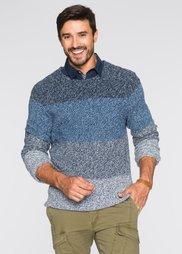 Пуловер Regular Fit (нежно-голубой меланж) Bonprix