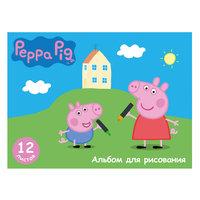 """Альбом для рисования 12 листов """"Свинка Пеппа"""" Росмэн"""