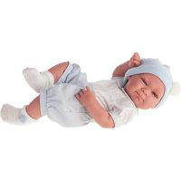 Кукла-младенец Оли (мальчик) в голубом, 42 см, Munecas Antonio Juan