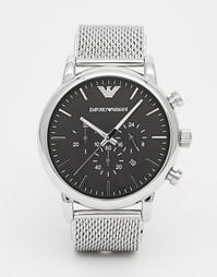 Часы с хронографом из нержавеющей стали Emporio Armani AR1808