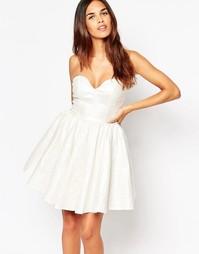 Блестящее платье мини для выпускного Oh My Love