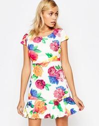 Платье с оборкой по кромке Madam Rage - Мульти