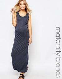 Трикотажное платье макси Mamalicious - Темно-синий Mama.Licious