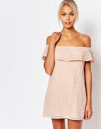 Платье с открытыми плечами Fashion Union - Бледно-розовый