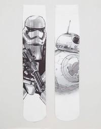 2 пары носков ASOS Star Wars BB-8 & Stormtrooper - Monochrome