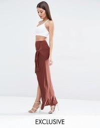 Облегающая юбка с декоративным узлом спереди Club L