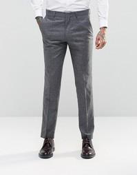 Узкие брюки из 100% шелка ASOS - Серый