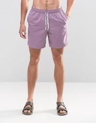 Фиолетовые шорты для плавания средней длины ASOS - Фиолетовый
