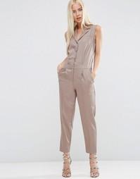 Комбинезон со строгой рубашкой без рукавов ASOS - Neutral