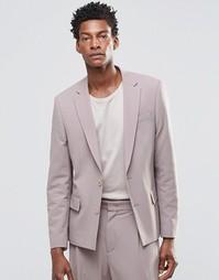 Розовый пиджак слим ASOS - Розовый