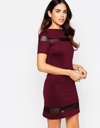 Цельнокройное платье с сетчатыми вставками Amy Childs Suki
