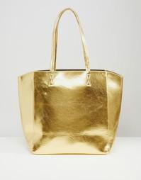 Сумка-шоппер цвета металлик ASOS - Золотой