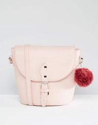 Сумка через плечо с помпоном Glamorous - Пепельно-розовый