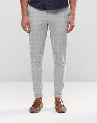 Облегающие брюки в полоску ASOS - Белый