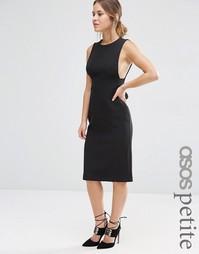 Структурированное платье миди ASOS PETITE - Черный