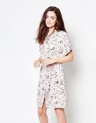 Чайное платье с принтом Ganni - С принтом