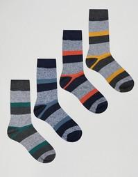 Набор из 4 пар носков в полоску Jack & Jones - Серый