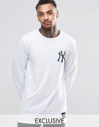 Лонгслив Majestic New York Yankees эксклюзивно для ASOS - Белый