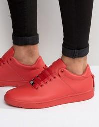 Красные кроссовки со шнурками на заднике ASOS - Красный