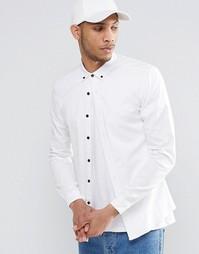 Облегающая белая рубашка с длинными рукавами ASOS - Белый