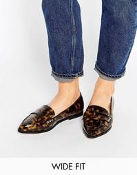 Туфли на плоской подошве для широкой стопы ASOS MARIKA - Черепаховый