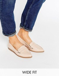 Туфли на плоской подошве для широкой стопы ASOS MARIKA - Телесный