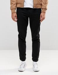 Зауженные черные брюки с 5 карманами ASOS - Черный