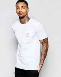 Белая футболка с принтом на кармане Nike 777877-100 - Белый