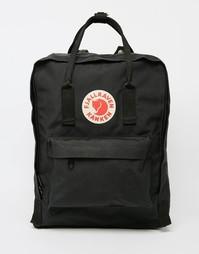 Черный рюкзак Fjallraven Kanken - 16 л - Черный
