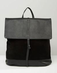 Рюкзак из замши и кожи с узелком ASOS - Черный