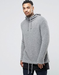 Вязаное худи ASOS - Серый