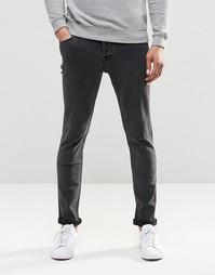 Черные стретчевые джинсы слим Only & Sons - Черный