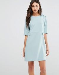 Цельнокройное платье с пуговицами Traffic People - Нежно-голубой