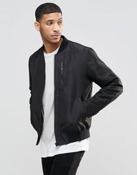 Черная куртка-пилот с нагрудным карманом на молнии ASOS - Черный