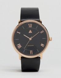 Часы с кожаным ремешком ASOS - Черный
