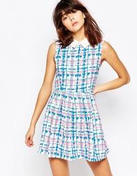 Платье с воротником в клетку Mela Loves London - Белый