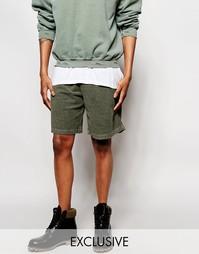 Крашеные шорты Reclaimed Vintage - Хаки