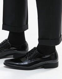 Лакированные черные туфли дерби ASOS - Черный