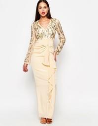 Платье макси Virgos Lounge Cara - Кремовый