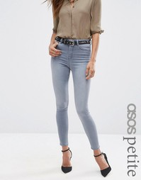 Серые джинсы скинни ASOS PETITE Ridley - Серый